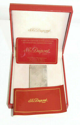 £187.62 • Buy ST Dupont Lighter Silver Plated With Original Box  Paris Made In France 1992's