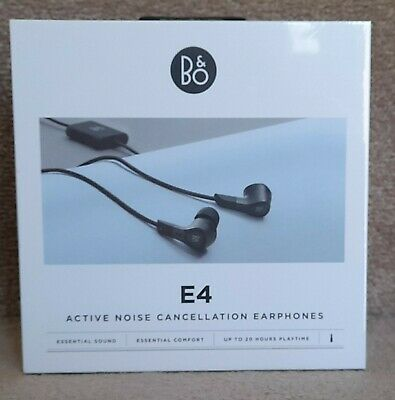 £63.79 • Buy Bang & Olufsen Beoplay E4 Active Noise Cancelling Earphones, Black B&O In Ear