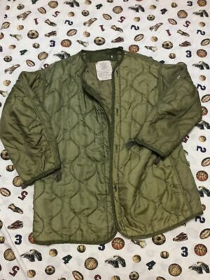 $19.99 • Buy Military Coat Liner, M65 Quilted Foliage Green Cold Weather Field Small Long