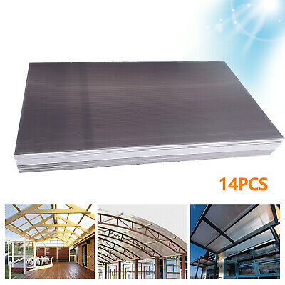 £69 • Buy 14 Pcs 4mm Multi-wall Polycarbonate Sheet Brown For Commercial Greenhouse Use