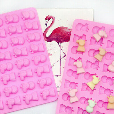 £3.59 • Buy Silicone 32 Peppa Pig Chocolate Candy Mould Cake Cookies Ice Cube Jelly Mold DIY