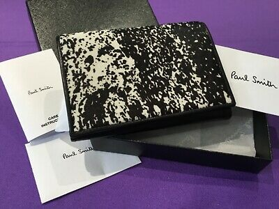 £105 • Buy New Paul Smith Womens Purse Black Leather And Pony Skin Faux Front