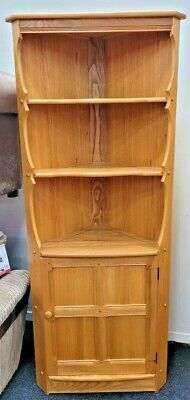 £49.99 • Buy ERCOL Old Colonial Solid Elm & Beech Light Wood Corner Display Cabinet - CIS A25