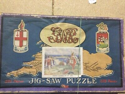£8 • Buy Vintage Chad Valley GWR Wooden Jigsaw Vikings At St Ives 375 Pieces
