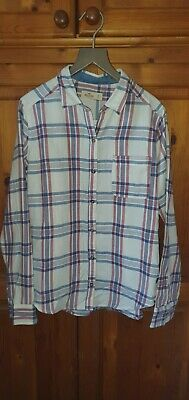 AU28.01 • Buy Brand New Ladies Hollister White Checked Flannel Shirt Size Small