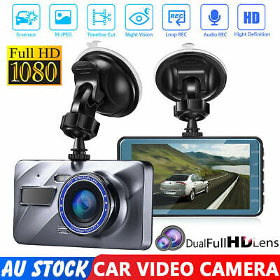 AU35.99 • Buy 1080P Car Dash Camera Front And Rear Dual Lens DVR Video Recorder Night Vision