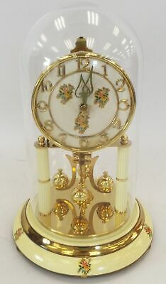 £29 • Buy Vintage KERN Anniversary Mantel Clock With Glass Dome Mechanical Key Wound - P15