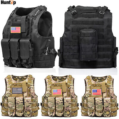 $30.39 • Buy HUNTVP Military Tactical Vest Plate Carrier For Airsoft Combat Assault US Army