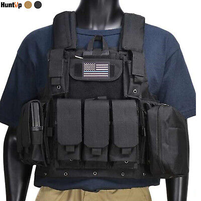 $43.69 • Buy Military Tactical Vest Loaded Gear Molle Airsoft Army Front & Back Plate Carrier