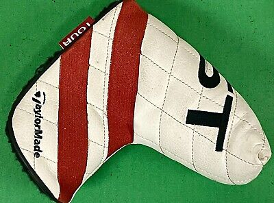 £5.50 • Buy TaylorMade Ghost Tour Blade Putter Golf Club HeadCover White Red Cover GREAT ⛳️