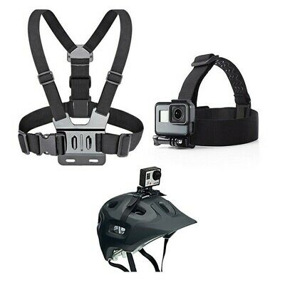 AU15.59 • Buy Chest Strap Adjustable Harness Head Strap Mount For GoPro HERO 3 4 5 6 7 8 9~
