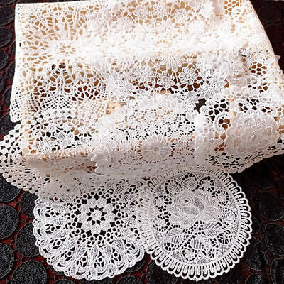 £4.29 • Buy Placemats White Lace Chargers Mat Dining Kitchen Table Set Wedding Party Decor