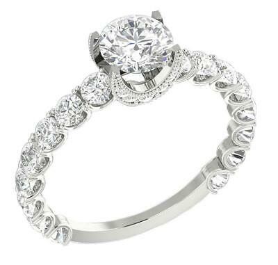 AU1802.63 • Buy Solitaire Engagement Ring I1 G 2.11 Carat Round Cut Diamond 14K White Gold RS 7