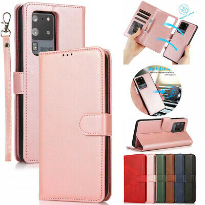 AU14.99 • Buy For Samsung S21+ Ultra S20 Note 20 S10 Removable Leather Wallet Cards Case Cover