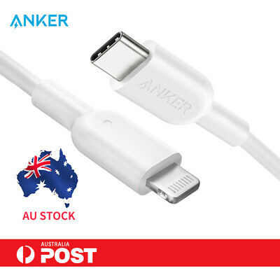 AU22.99 • Buy Anker USB C To Lightning USB Cable MFi Certified For IPhone 8 11 12