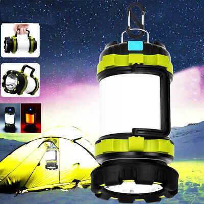 £14.89 • Buy LED Portable Camping Torch Rechargeable Lantern Night Light Outdoor Tent Lamp UK