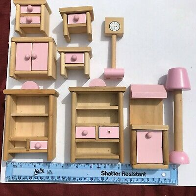 £2.99 • Buy Wooden Dolls House Furniture - 9 Living Room Items
