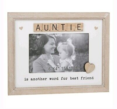 £10.95 • Buy Scrabble Sentiment AUNTIE Is Another Word For Best Friend Photo Frame 6x4  Gift