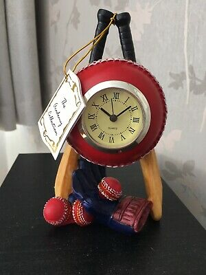£8.95 • Buy ACADEMY COLLECTION -  Hand Crafted Cricket Clock - Excellent Condition