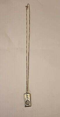£7.50 • Buy Sterling Silver Ingot Pendant With Chain .fully Hallmarked.Lovely Piece