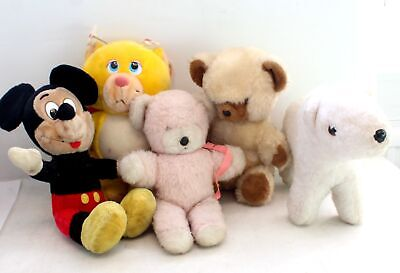 £4.99 • Buy Collection Of X5 Assorted VINTAGE Teddy Bears - USED  - H47