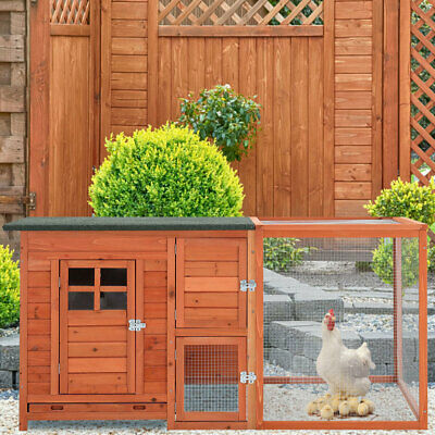 £159.95 • Buy Large Chicken Wooden Cage Coops Hen House Poultry Rabbit Ark Eggs Hatch Hutch UK