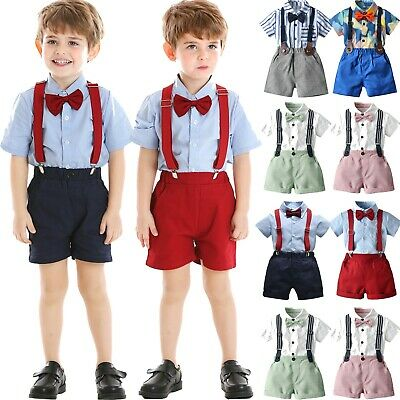 £10.99 • Buy Newborn Baby Boys Gentleman Bow Tie Shirt Tops+Pants Shorts Clothes Outfits Set