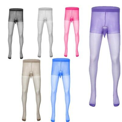 $6.83 • Buy US Mens Sexy Pantyhose Footed Closed Pants Sheath Pouch Tight Stockings Lingerie