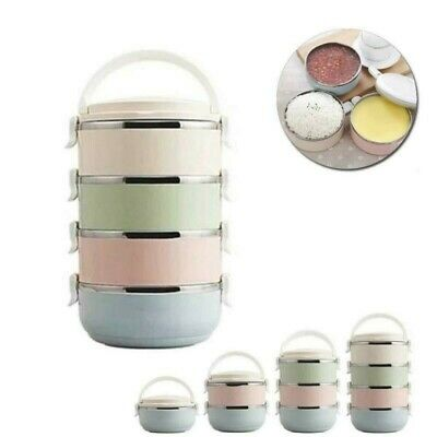 AU29.17 • Buy 4Layer Thermo Stainless Steel Food Lunch Container Insulated Vacuum Bag Box