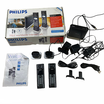 £49.95 • Buy Philips Dual Phone VOIP 433 Duo Boxed