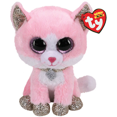 £8.95 • Buy Official Ty Beanie Boo Babies Fiona Pink Cat Plush Soft Toy New With Tags