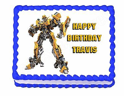 £6.34 • Buy Transformers Edible Cake Image Cake Topper Decoration Party Decoration