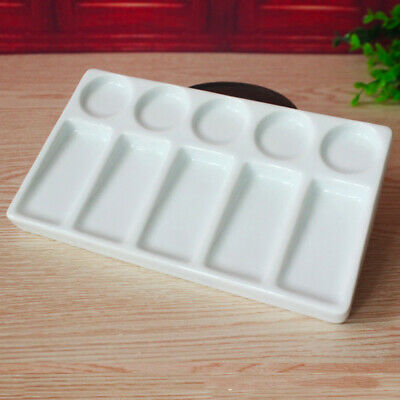 £13.59 • Buy 10 Well Ceramic Paint Mixing Tray Pallet For Acrylic Oil Watercolor Palette New