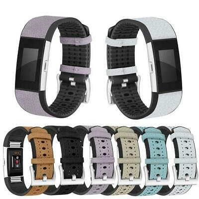 AU10.37 • Buy 1*Optional TPU Leather Watch Band Wrist Bracelet For Smart Watch Fitbit Charge2