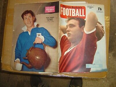 £5 • Buy Charles Buchan's Football Monthly December 1957 Manchester United Newcastle