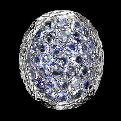 £7.87 • Buy Unheated Round Blue Tanzanite 14K White Gold Plate 925 Sterling Silver Ring 8