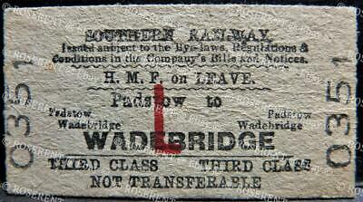 £2.99 • Buy 1950 Southern Railway - H.M.F. On Leave Padstow To Woodbridge -3rd Class Ticket