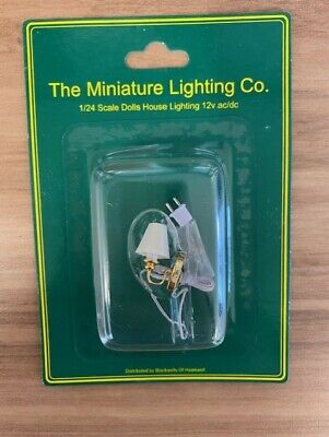 £3.99 • Buy 1:24 Scale Dolls House LTH42009 Single Shade Brass Wall Wired Light Brand New