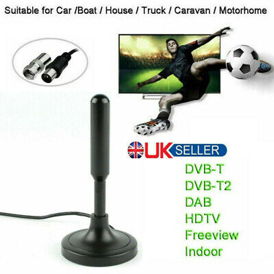 £7.95 • Buy High Definition TV Antenna Indoor/Outdoor Digital HD DVB-T2 Freeview Aerial