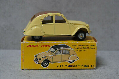 £110 • Buy French Dinky 558 Citroen 2 CV Yellow / Brown Roof No Interior V Near Mint Boxed