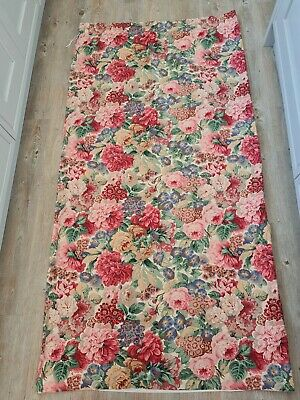£125 • Buy Sanderson Rose And Peony Lined Curtains Vintage Pink Red Pair Long 50  X 88