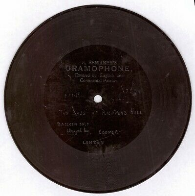£325 • Buy Emile Berliner: Berliner Gramophone 7 Inch Shellac Record - Issue No E7554.