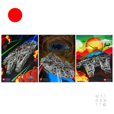 £89.95 • Buy LEGO Star Wars: Set Of Limited Edition UCS Millennium Falcon Posters *BRAND NEW*