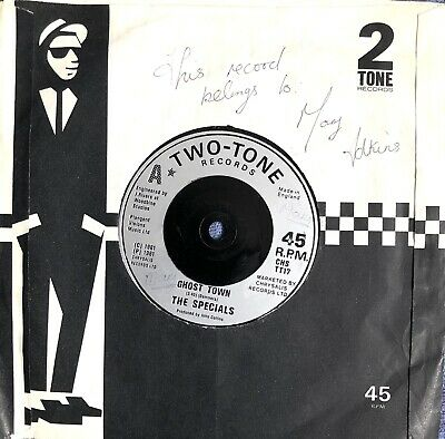"""£2.49 • Buy The Specials Ghost Town 1981 Two Tone 7"""" 3 Track Vinyl Record Fully Play Tested"""