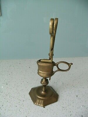 £9.99 • Buy Vintage Brass Candle Snuffer Cigar Snuffer Wick Trimmer Scissors With Stand