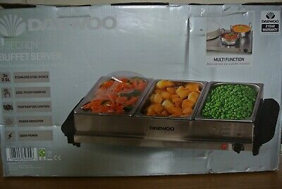 £12.50 • Buy Daewoo 3 Section Buffet Server. Also Functions As A Plate Warmer