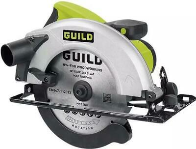 £34.95 • Buy Guild 185mm Circular Saw 1400 Watt With Angle Adjustment And Guide Used