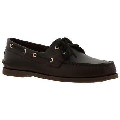 £59.99 • Buy Sperry Top Sider A/O 2 Eye Brown Leather Mens Deck Boat Shoes Size UK 8-11