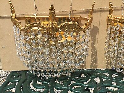 £6.30 • Buy Crystal Chandelier, Beautiful Crystal Drops, Excellent Condition