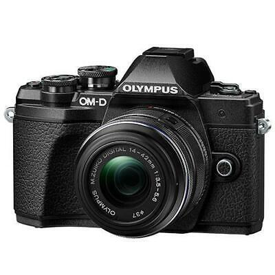 View Details Olympus OM-D E-M10 Mark III Mirrorless Camera With 14-42mm R Lens Black • 379.99£